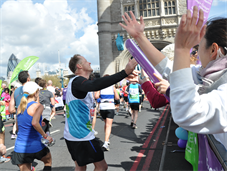 """Together we can"" runners at London Marathon"