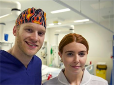 Stacey Dooley and Jonnie Peacock, who starred in BBC documentary Celebrities on the NHS Frontline