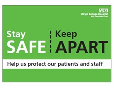 Stay safe keep apart sign