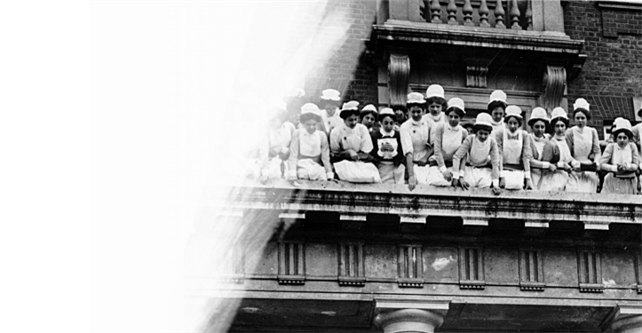 Nurses at King's College Hospital in 1913