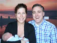 Proud parents with new baby at King's new midwife-led unit