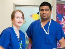 male and female nurse in theatre recovery