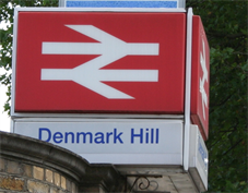 Denmark Hill Station sign