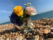 Flowers in memory of Rivaan and Roe