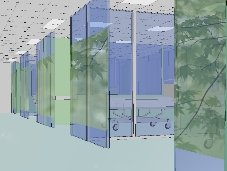 Artist's impression of artwork on connecting corridor at King's Critical Care Centre
