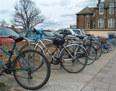 Cycle rack next to King's car park