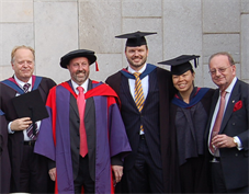 Mature students at MBA graduation ceremony