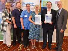 Ophthalmology staff at Queen Mary's with mystery shopper award
