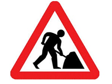 Works in progress sign