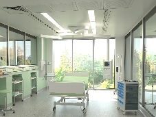 Patient room in King's new Critical Care Centre
