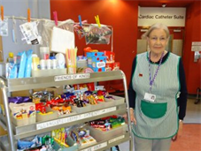 King's volunteer with ward trolley