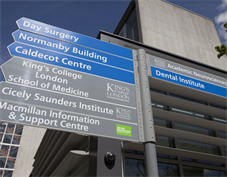 signage to the dental institute