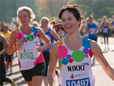 Runners racing for King's College Hospital Charity