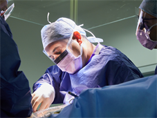King's surgeons during an operation