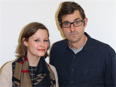 Louis Theroux and @King's editor Ellie Morton