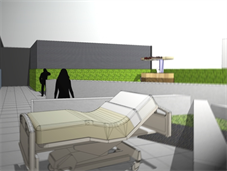 Artist's impression of roof deck of King's Critical Care Centre