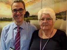Richard Warren, Mortuary Manager, with Pauline Allard, Chair of Friends of the PRUH