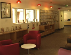 Advice room for patients at King's Macmillan Centre